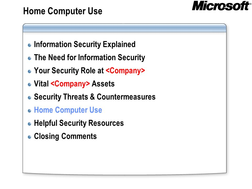 Home Computer Use Information Security Explained