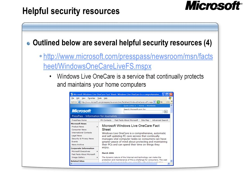 Helpful security resources