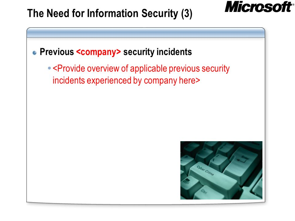 The Need for Information Security (3)