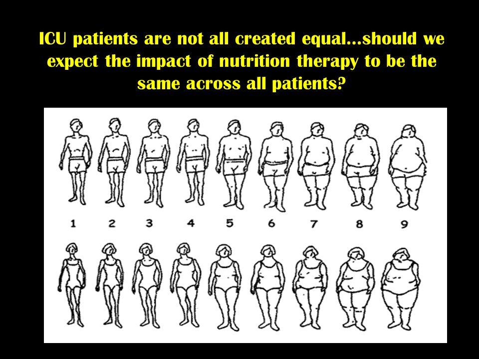 ICU patients are not all created equal…should we expect the impact of nutrition therapy to be the same across all patients