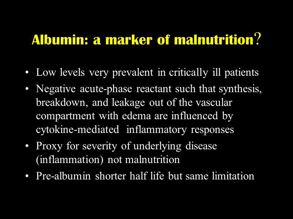 Albumin: a marker of malnutrition