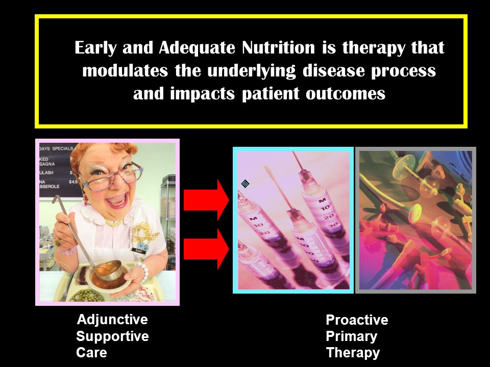 Early and Adequate Nutrition is therapy that modulates the underlying disease process and impacts patient outcomes