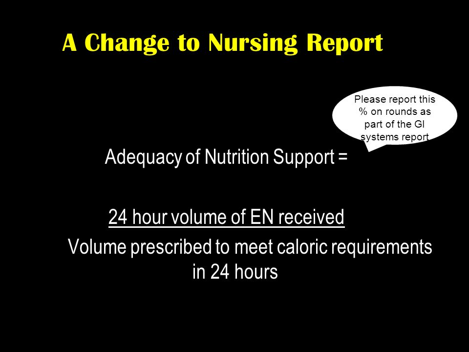 A Change to Nursing Report