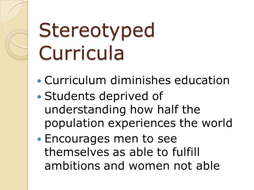 Stereotyped Curricula