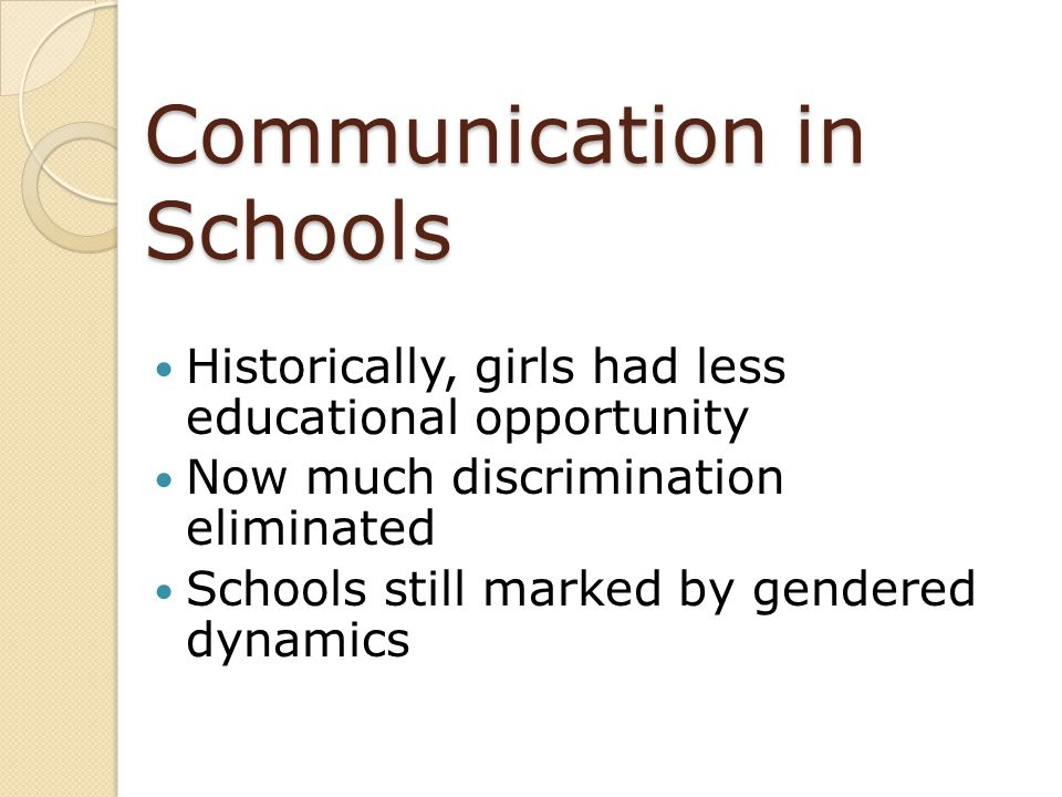 Communication in Schools