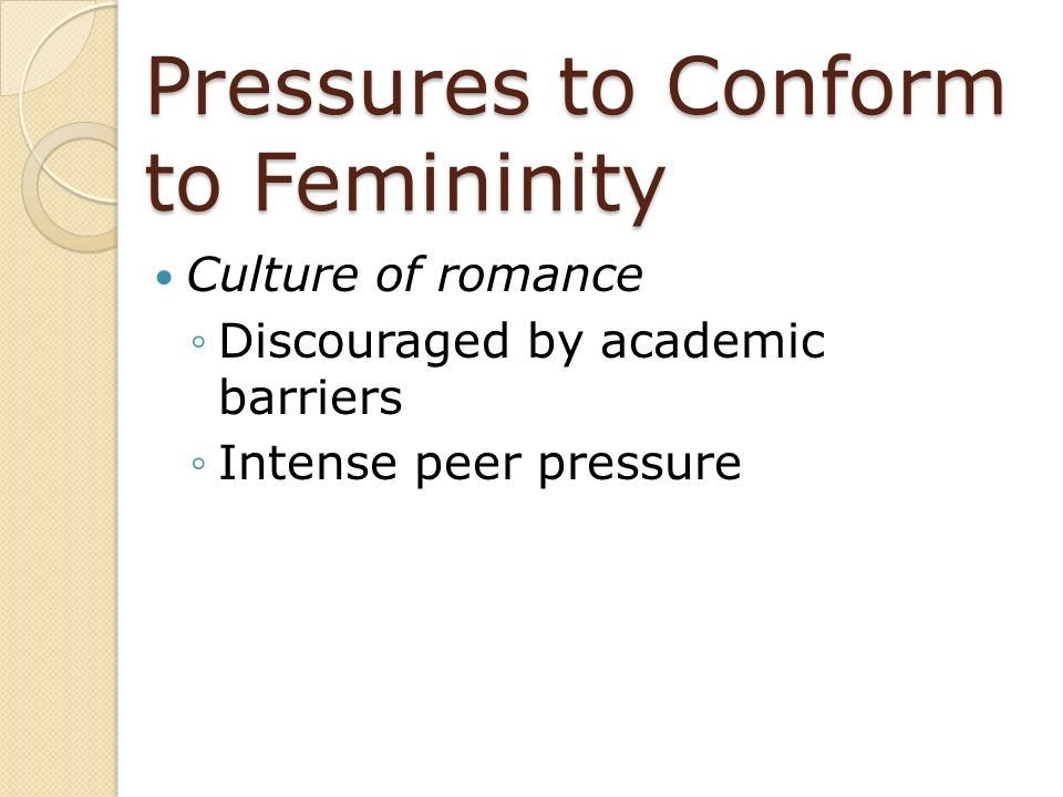 Pressures to Conform to Femininity