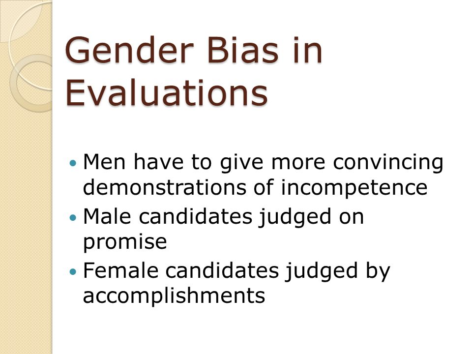 Gender Bias in Evaluations
