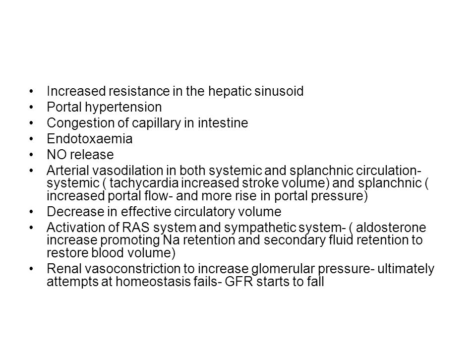 Increased resistance in the hepatic sinusoid