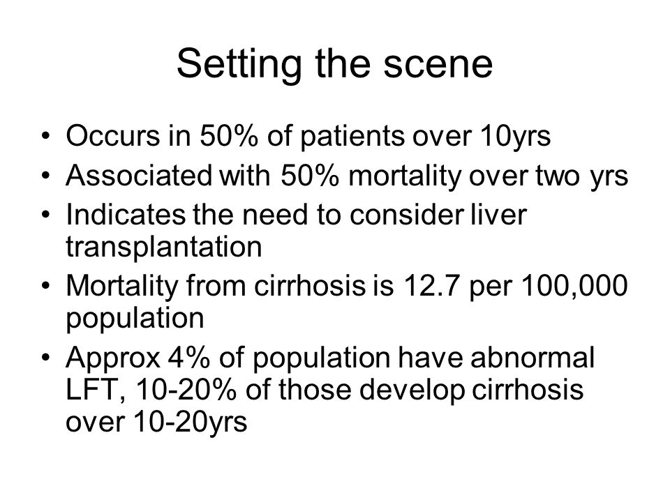 Setting the scene Occurs in 50% of patients over 10yrs