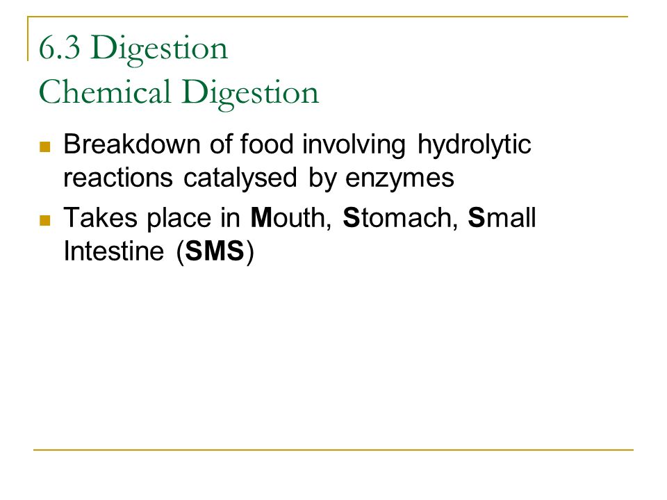 6.3 Digestion Chemical Digestion