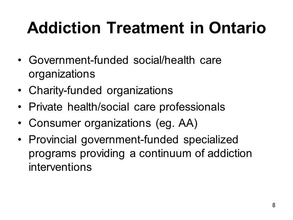 Addiction Treatment in Ontario