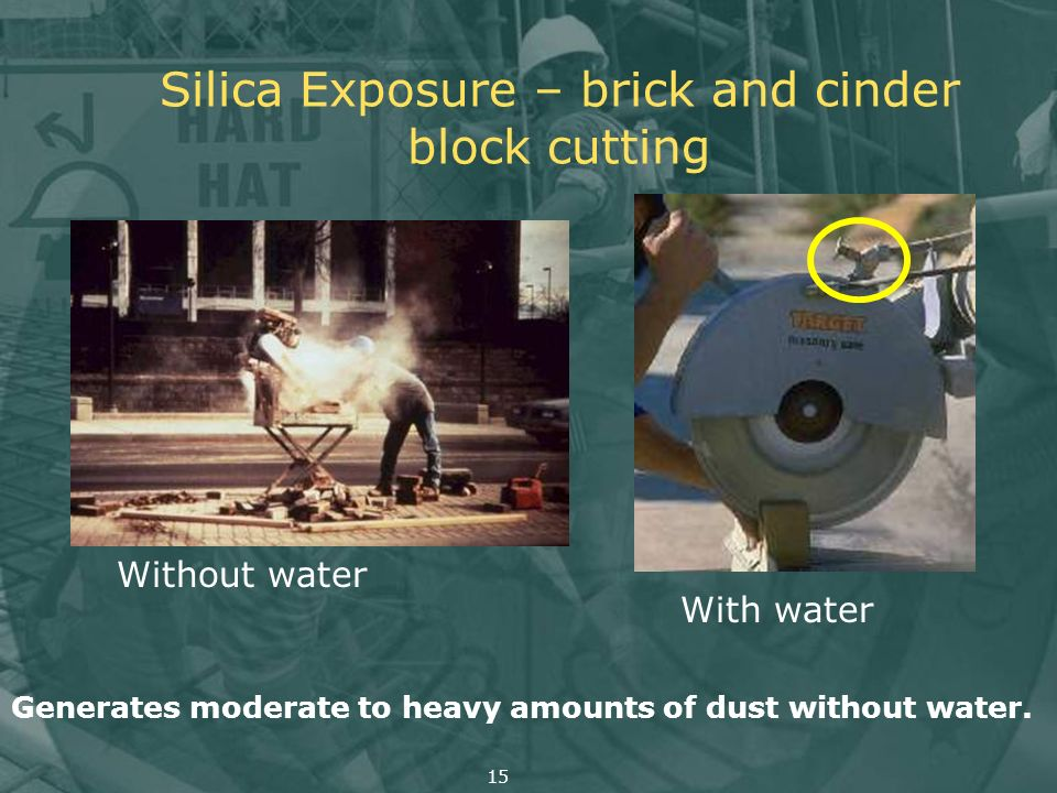 Silica Exposure – brick and cinder block cutting