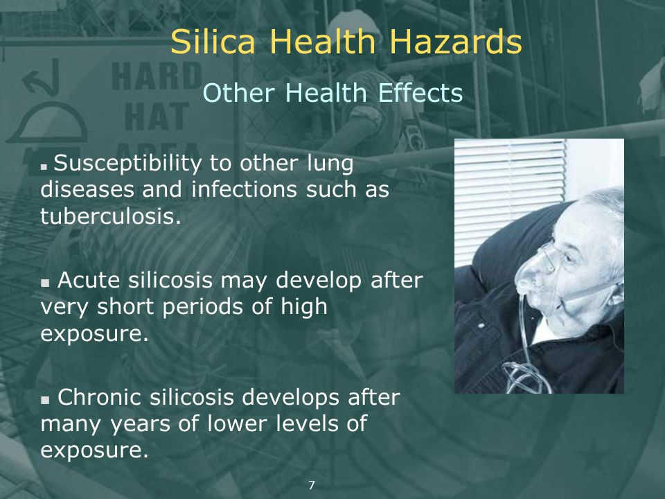 Silica Health Hazards Other Health Effects