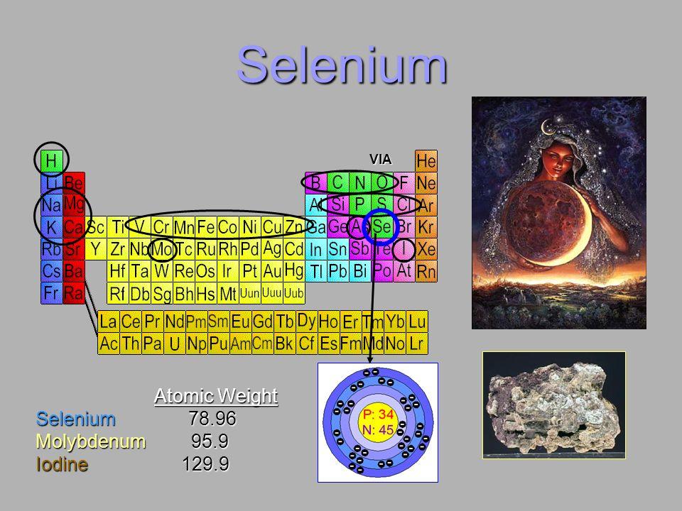 SeleniumVIA.Atomic Weight. Selenium 78.96.