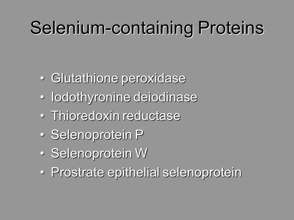 Selenium-containing Proteins