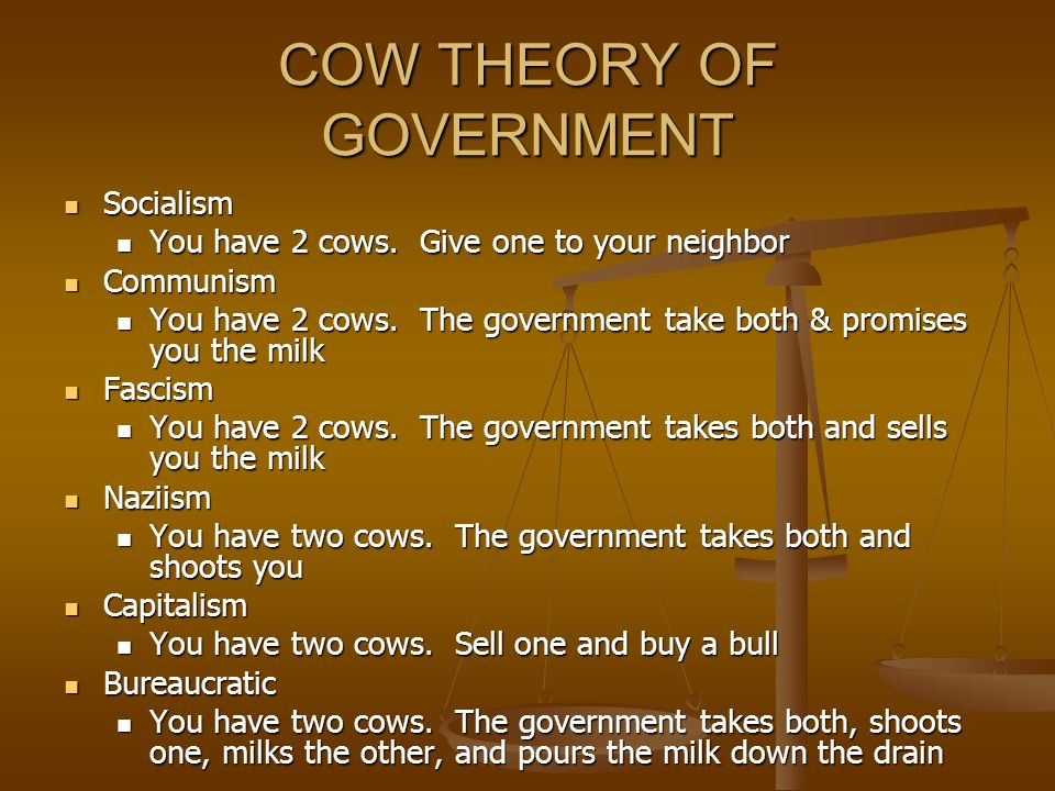 COW THEORY OF GOVERNMENT