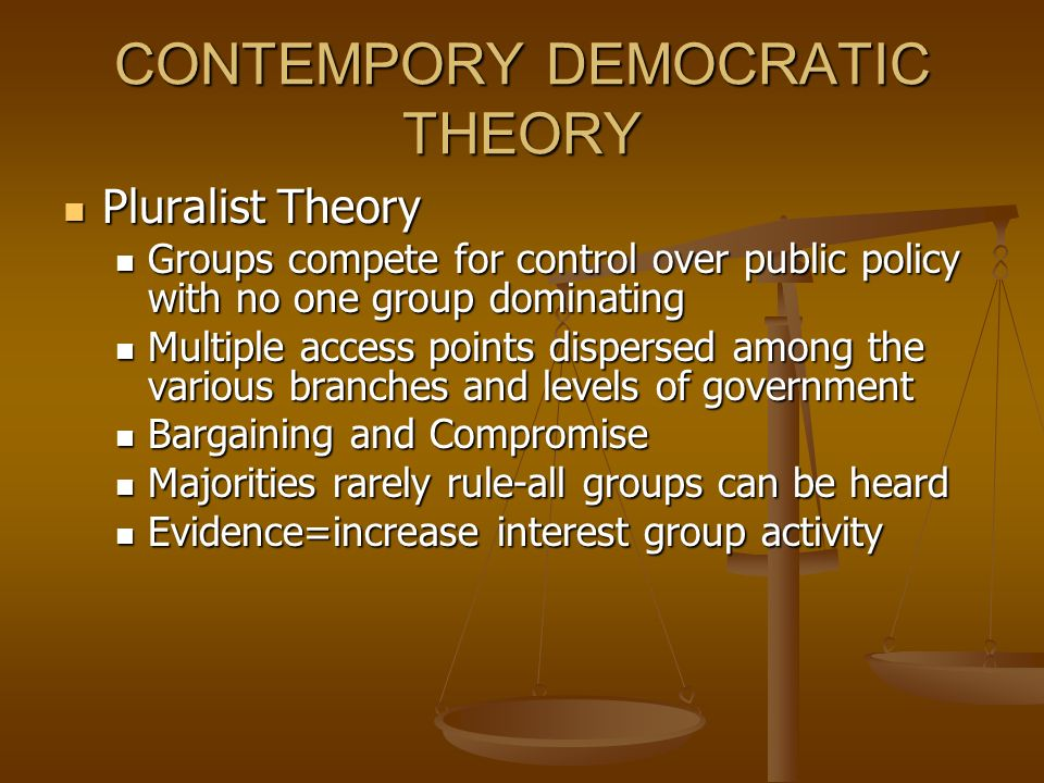 CONTEMPORY DEMOCRATIC THEORY