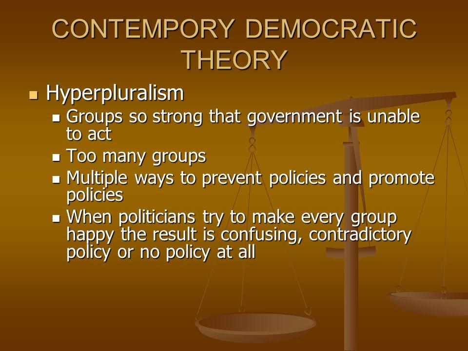 CONTEMPORY DEMOCRATIC THEORY