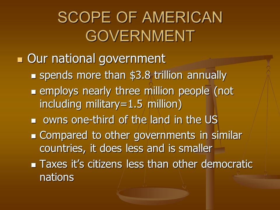 SCOPE OF AMERICAN GOVERNMENT