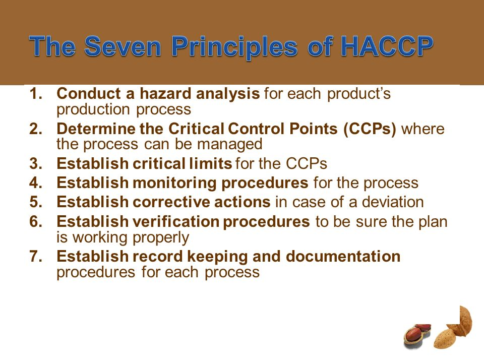 The Seven Principles of HACCP