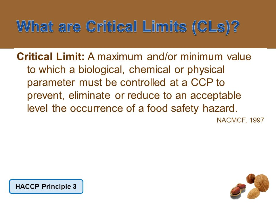 What are Critical Limits (CLs)