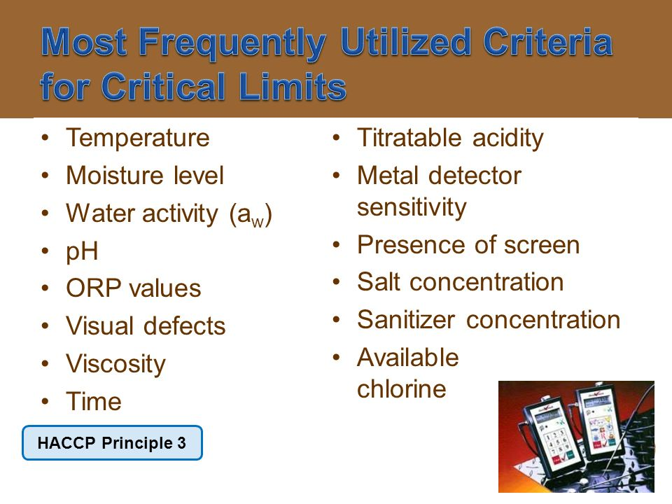 Most Frequently Utilized Criteria for Critical Limits