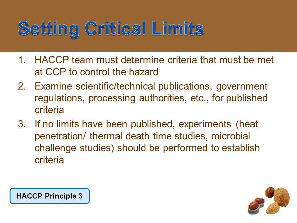 Setting Critical Limits