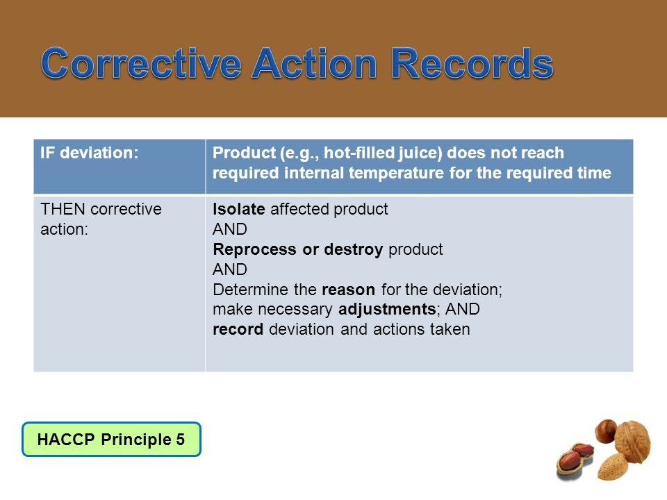 Corrective Action Records