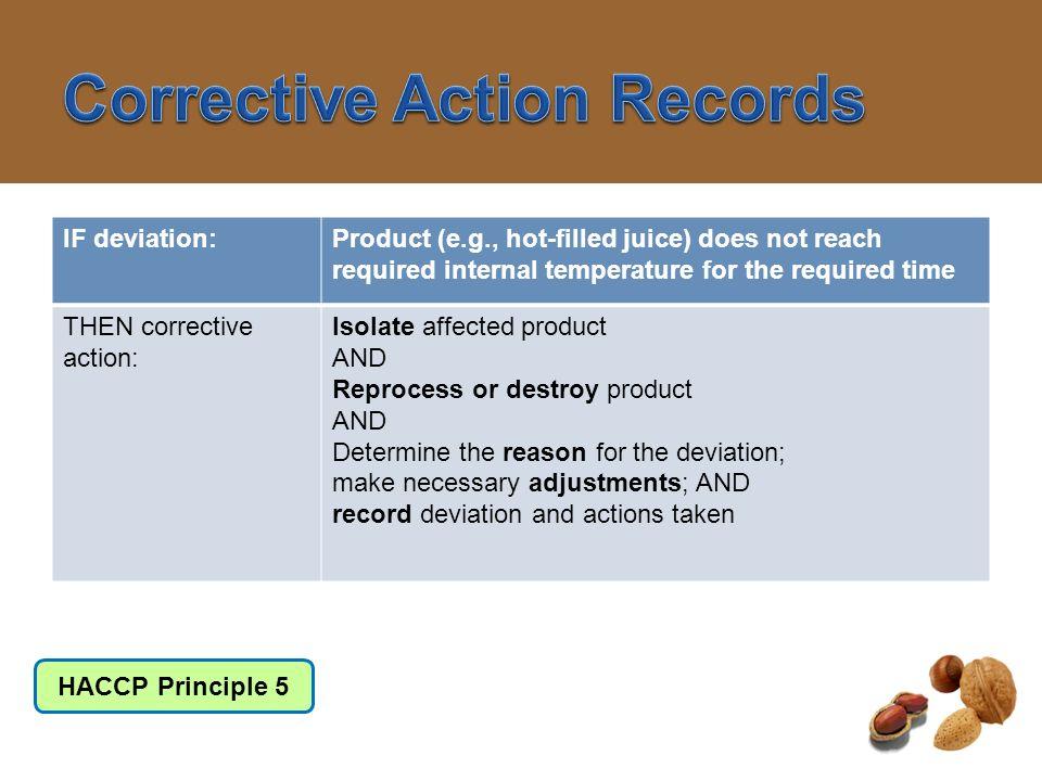 Corrective Action Records