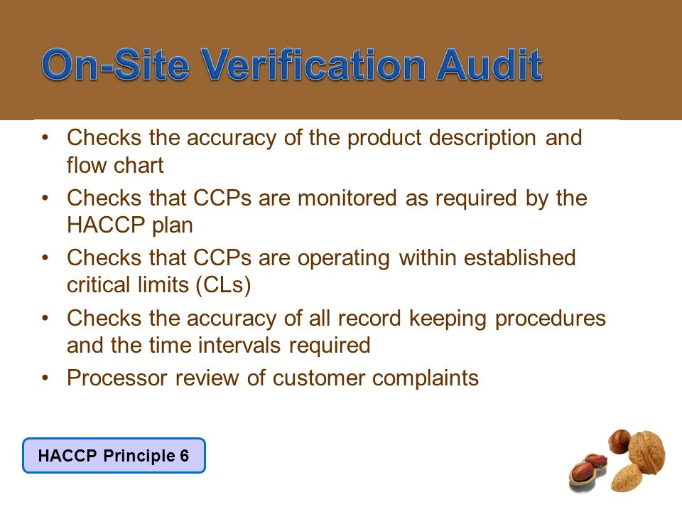 On-Site Verification Audit