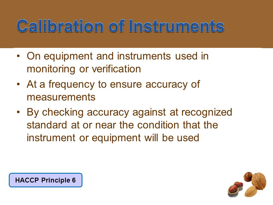 Calibration of Instruments