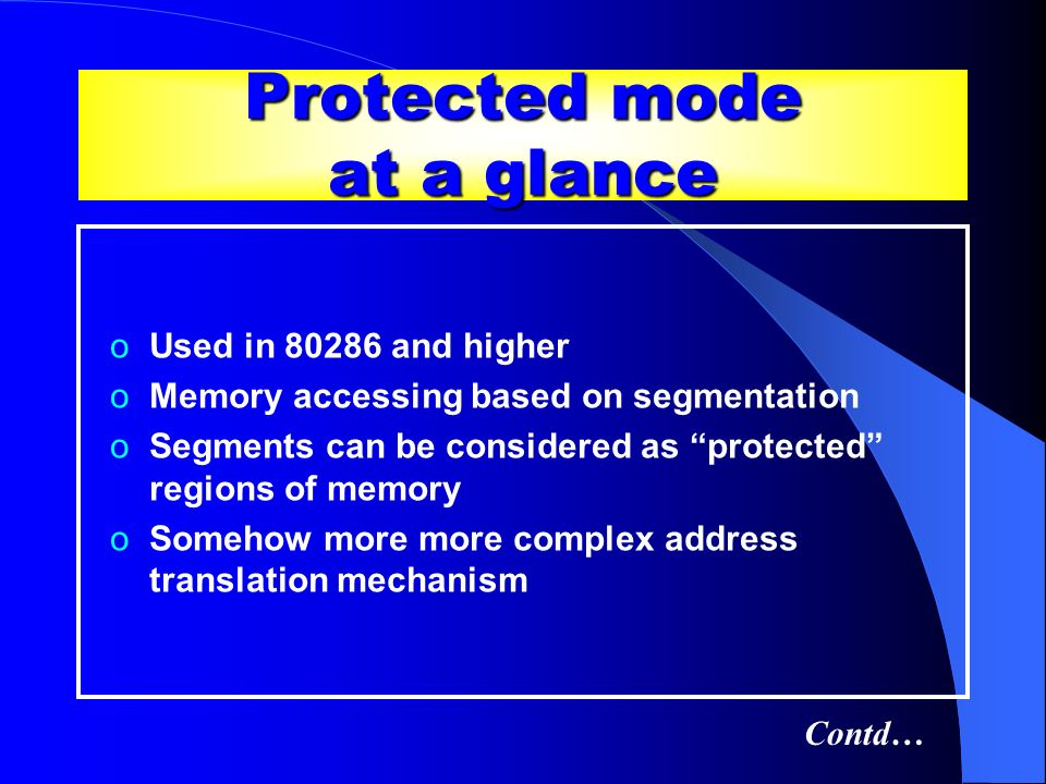 Protected mode at a glance
