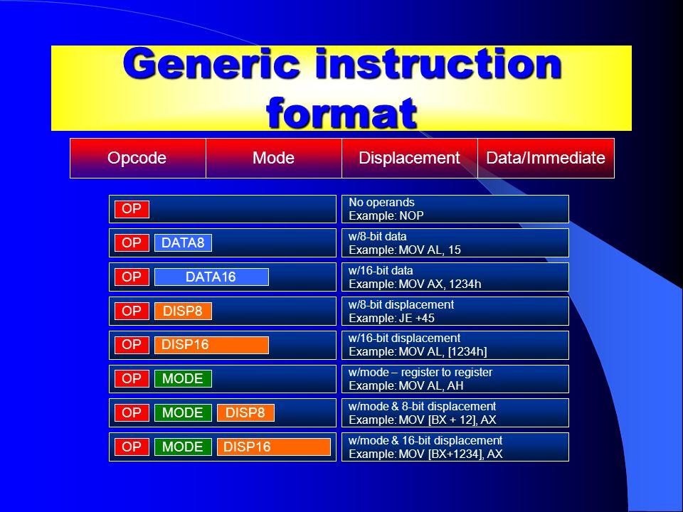 Generic instruction format