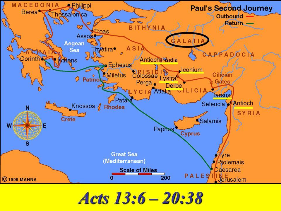 \Pisidia Acts 13:6 – 20:38