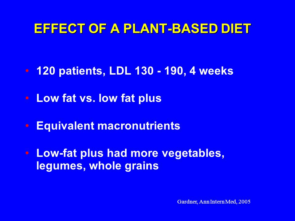 EFFECT OF A PLANT-BASED DIET