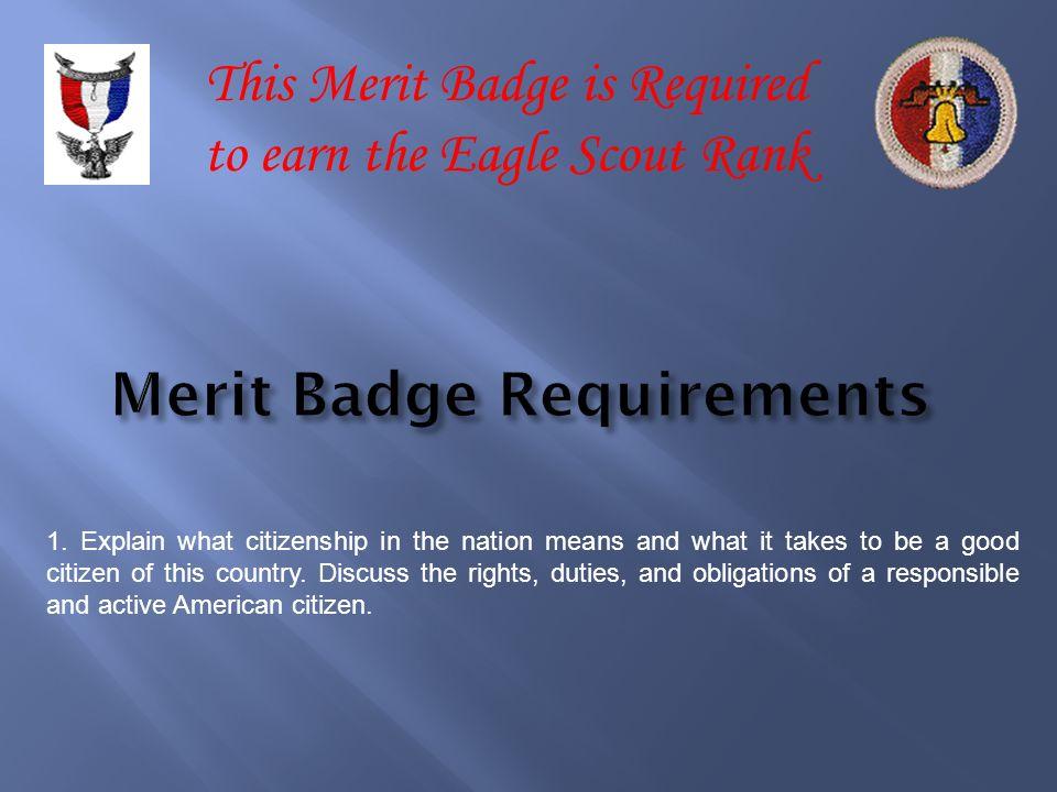 Merit Badge Requirements