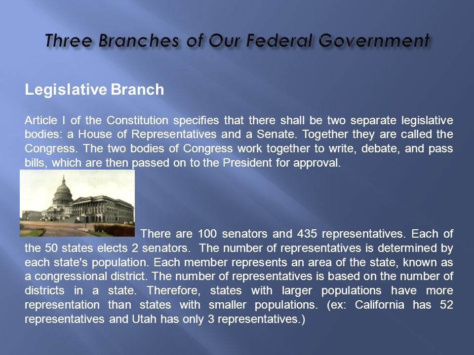 Three Branches of Our Federal Government