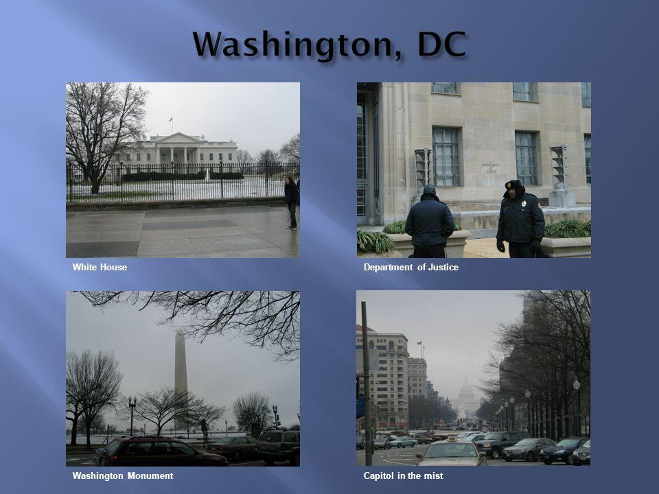 Washington, DC White House Department of Justice Washington Monument