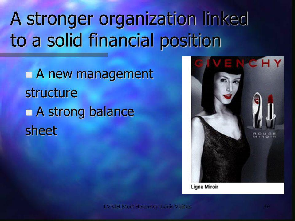 A stronger organization linked to a solid financial position