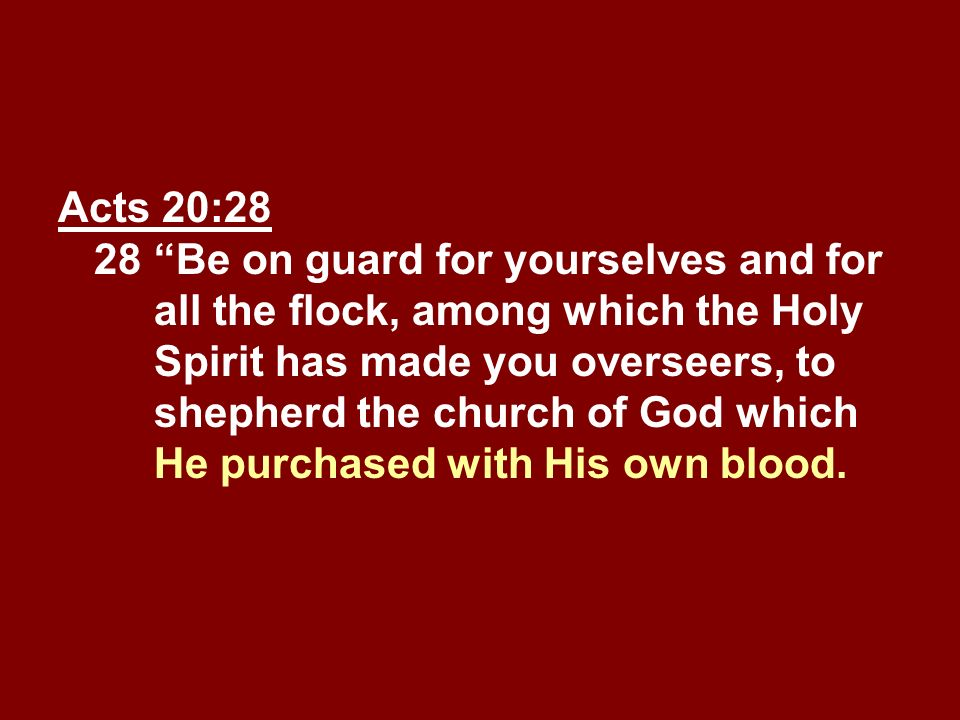 Acts 20:28 28. Be on guard for yourselves and for