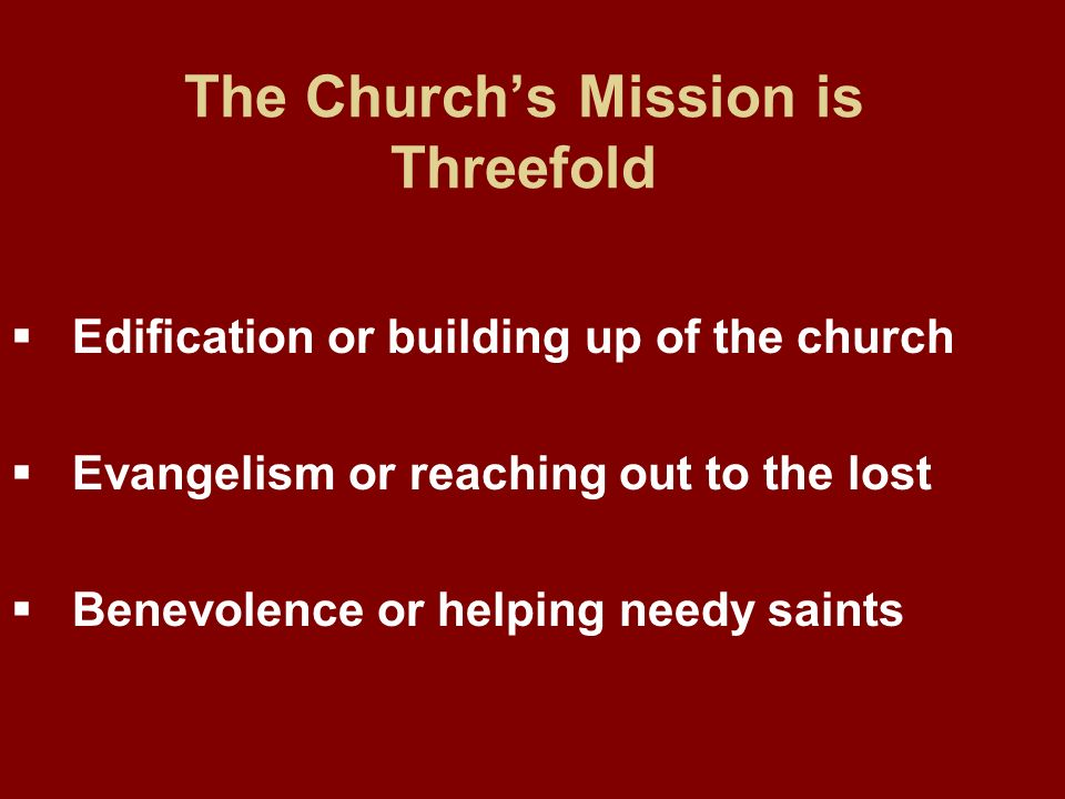 The Church's Mission is Threefold
