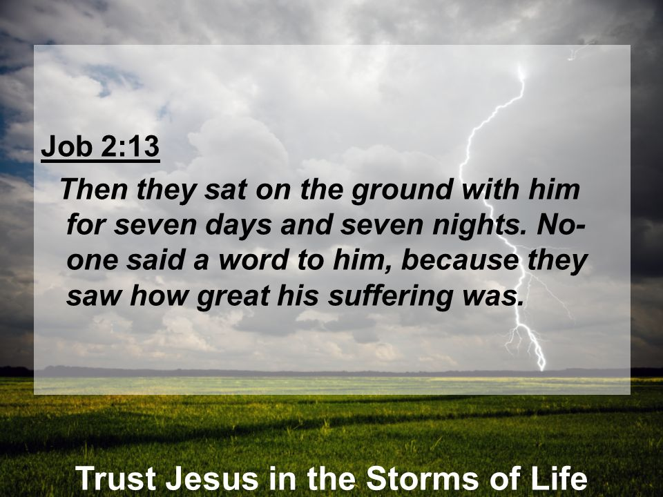 Trust Jesus in the Storms of Life