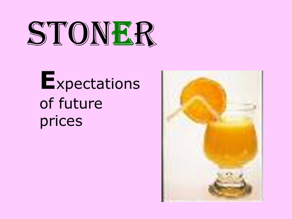 STONER Expectations of future prices