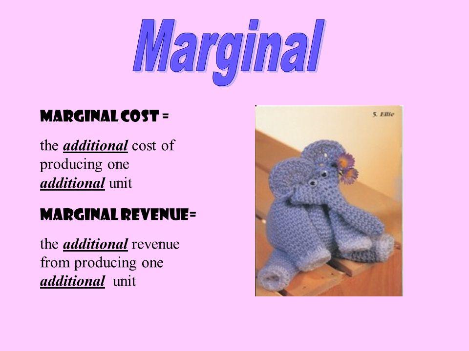 Marginal Marginal Cost =