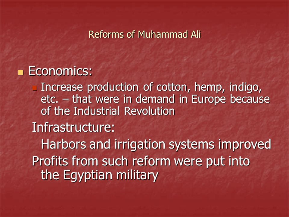 Reforms of Muhammad Ali