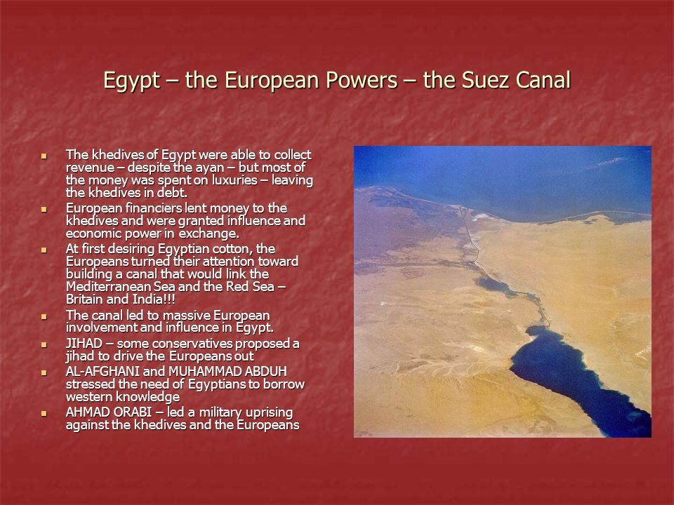 Egypt – the European Powers – the Suez Canal