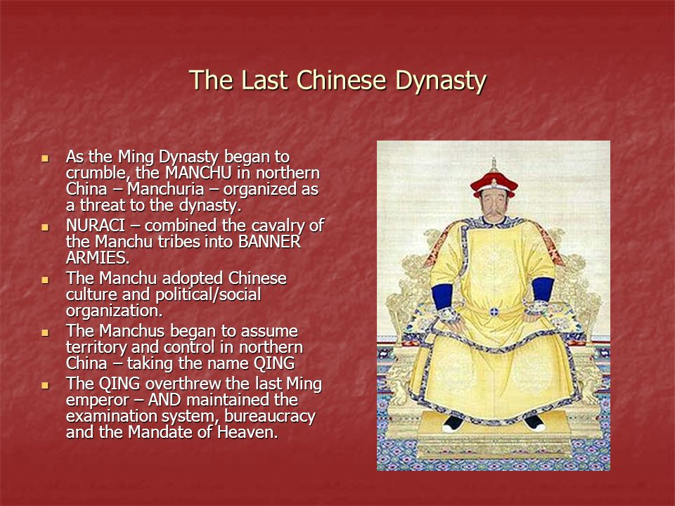 The Last Chinese Dynasty