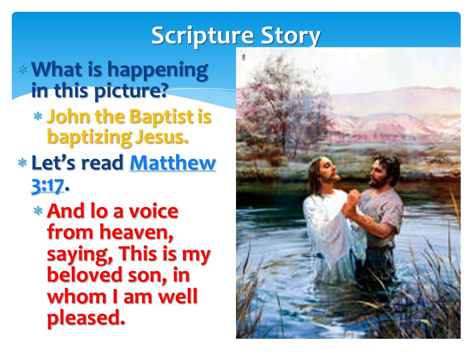 Scripture Story What is happening in this picture