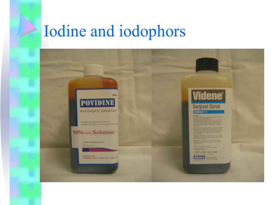 Iodine and iodophors