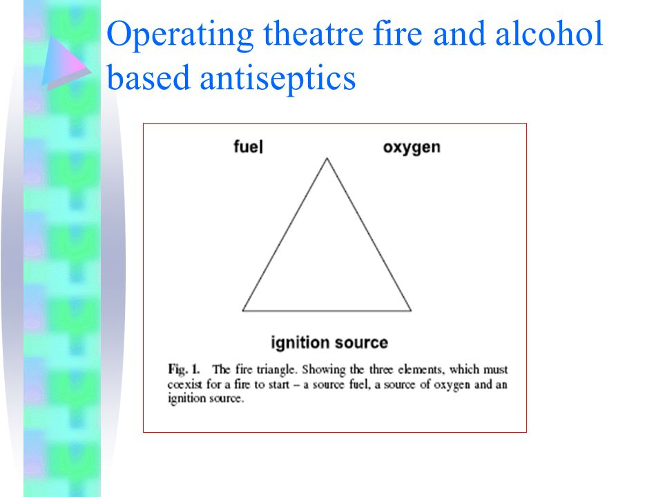 Operating theatre fire and alcohol based antiseptics